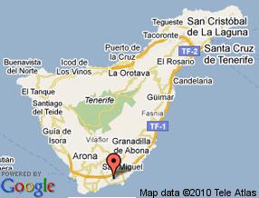 Mapa De Tenerife Sur.Transportes By Plane Cabildo De Tenerife
